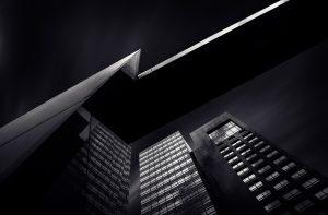 skyscraper slide black white gray