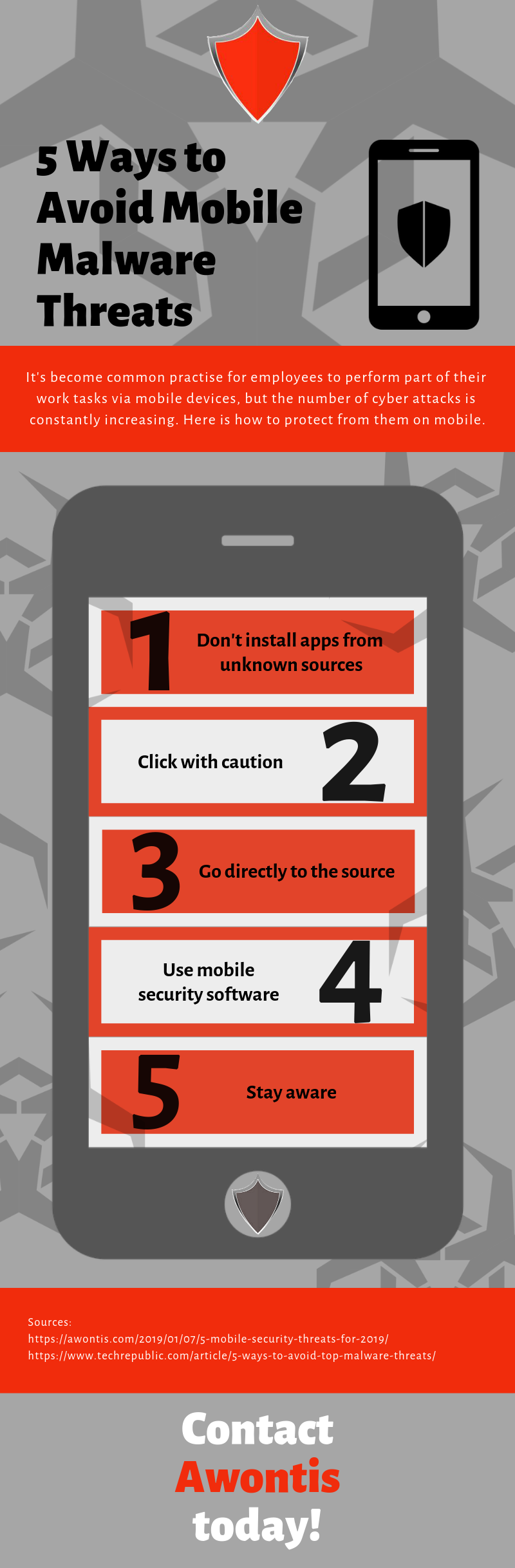 5 Ways to Avoid Mobile Malware Threats INFOGRAPHIC