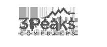 3 peaks computer logo black white