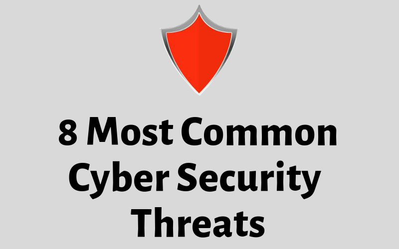 8 Most Common Cyber Security Threats (Infographic)
