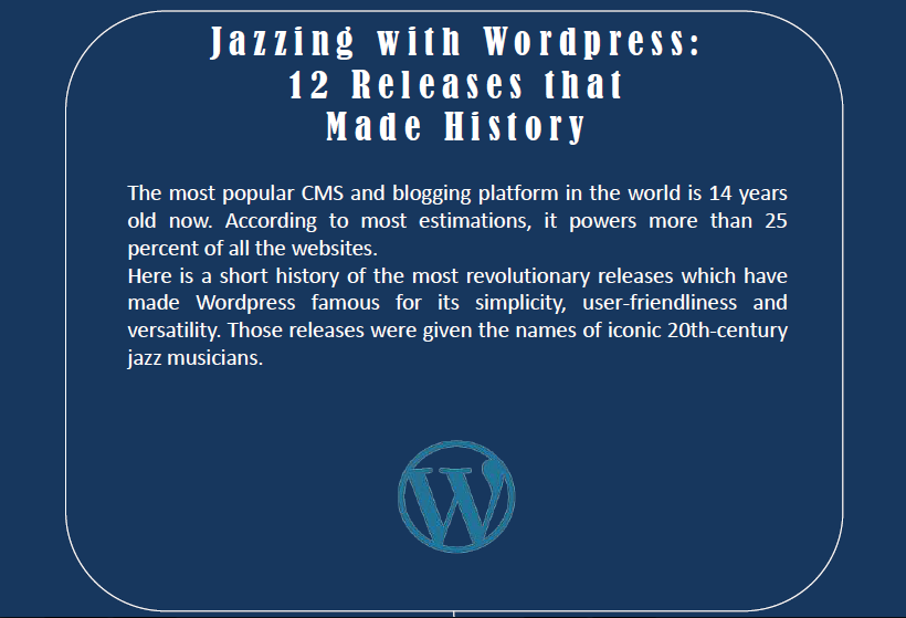 Jazzing with WordPress: 12 Releases that Made History (Infographic)
