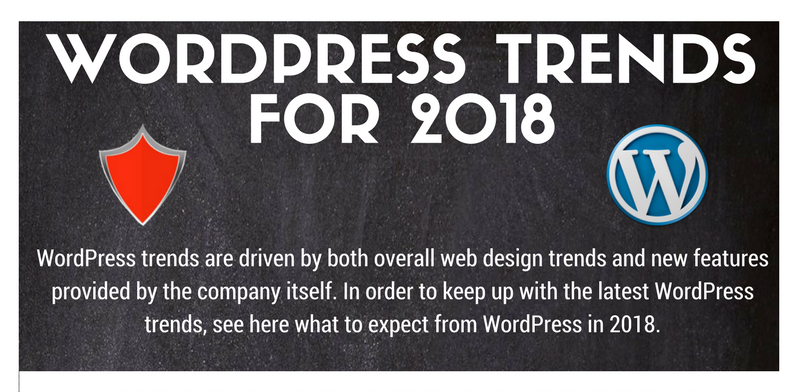 WordPress Trends for 2018  (Infographic)