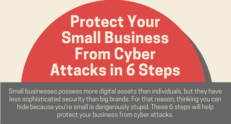 Protect Your Small Business From Cyber Attacks in 6 Steps (Infographic)